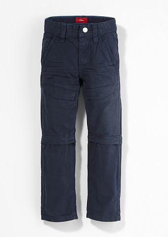Pelle: брюки с съемный штанина f