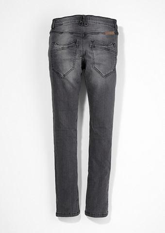 Облегающий Seattle: джинсы потертые дл...