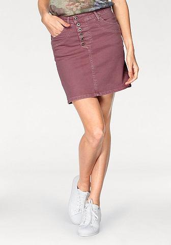 Please джинсы мини-юбка