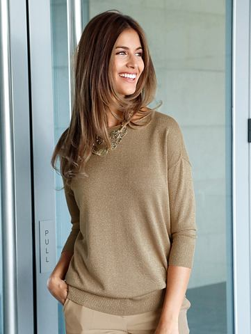 Пуловер в Feinstrick с Lurex