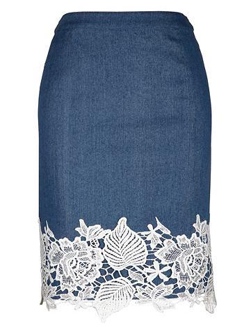 Юбка джинсовая с Spitzenbordüre