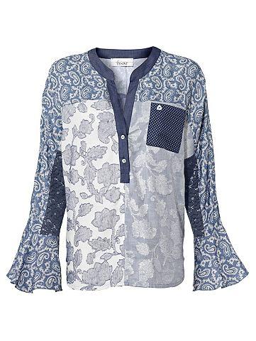 Блузка с набивным рисунком с кружева