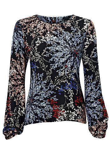 Блузка с набивным рисунком с цветы