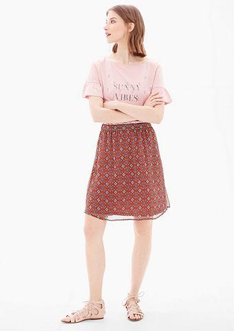 Шифоновая юбка с повторяющийся узор
