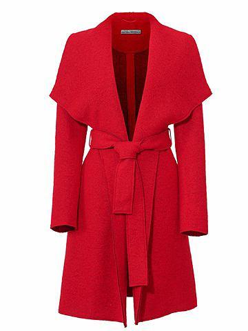 Пальто короткое с пояс