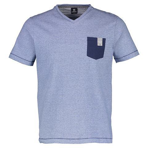 С V-образным вырезом футболка с утонче...