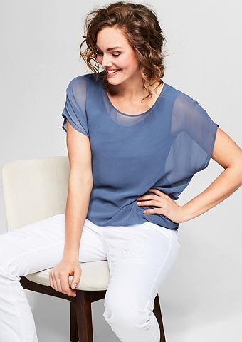 Нежный блузка-рубашка из шифон