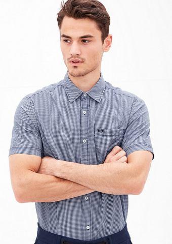 Regular: клетчатый рубашка с короткими...