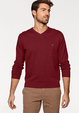 Пуловер с V-образным вырезом