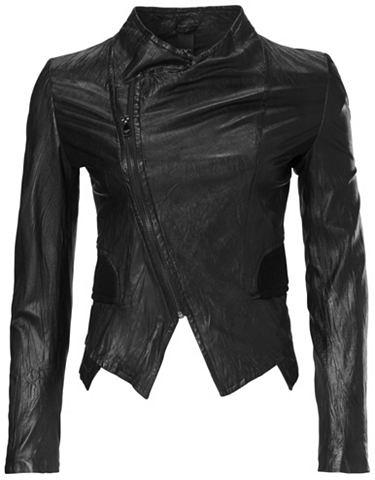 Куртка кожаная Porcnappa в Used-Look