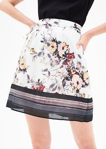 Geblümter юбка с шелк