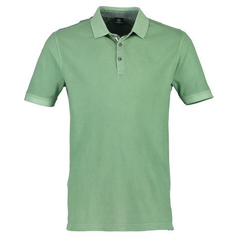 Halbarm футболка поло в Used-Look