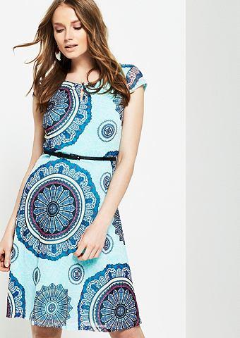 Платье с красочный рисунком