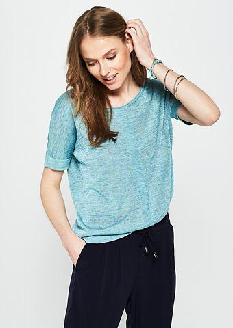 Пуловер с декоративный Farbstruktur