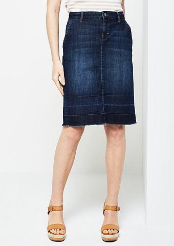 Юбка джинсовая в Used-Look