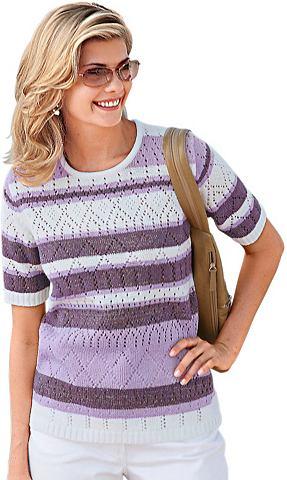 Пуловер с silberfarbigen Akzenten