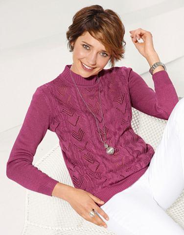 Пуловер с Ajour- и стежка