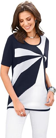 Пуловер с Intarsien-Muster в спереди