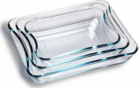 Форма для выпечки стекло (3 шт)