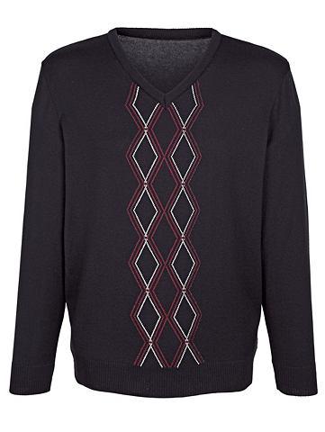 Пуловер с Rautenstrickmuster