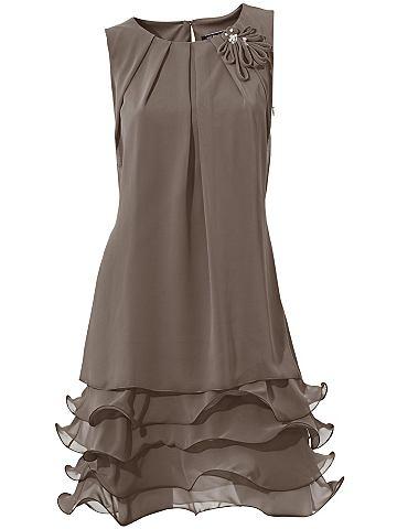 Коктейльное платье с c воланами