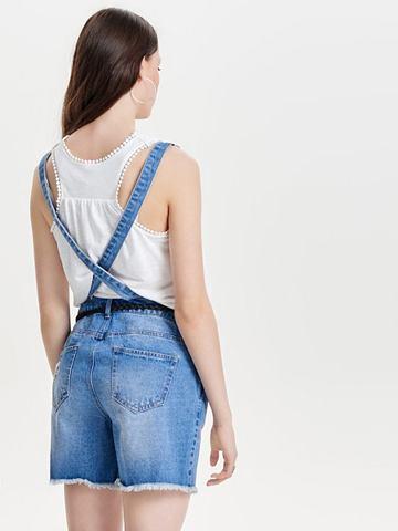 Джинсовый брюки с подтяжками