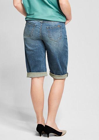 Curvy: эластичный бермуды джинсовые
