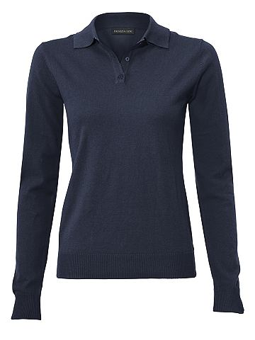 Пуловер поло с шелк