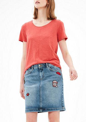 Юбка джинсовая с пятна