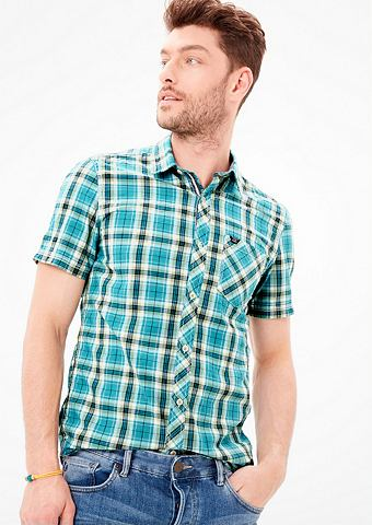 Зауженные клетчатый рубашка с коротким...