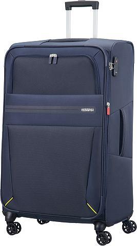 Текстильный чемодан с 4 колесики летне...