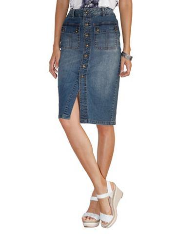 Юбка джинсовая с пуговицы
