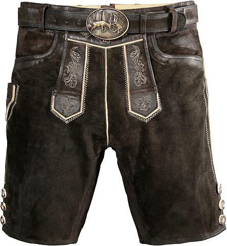 COUNTRY LINE Короткий брюки кожаные из национальног...