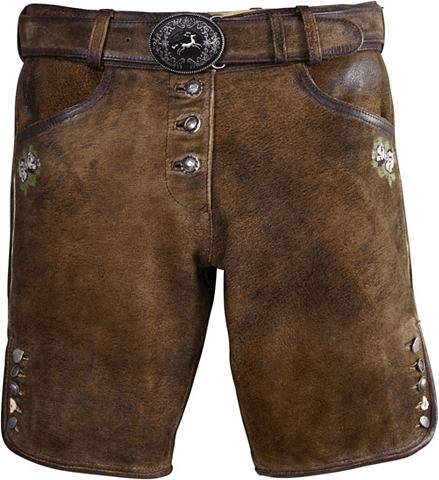Короткий брюки кожаные из национальног...