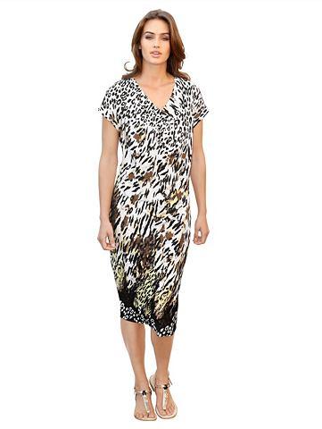 Платье из джерси с складками