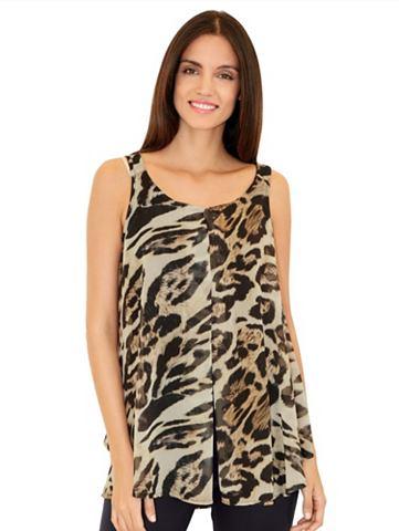 Топ с леопардовый узор