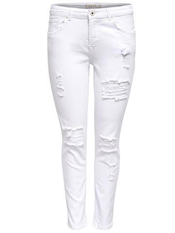 Relax white облегающий форма джинсы