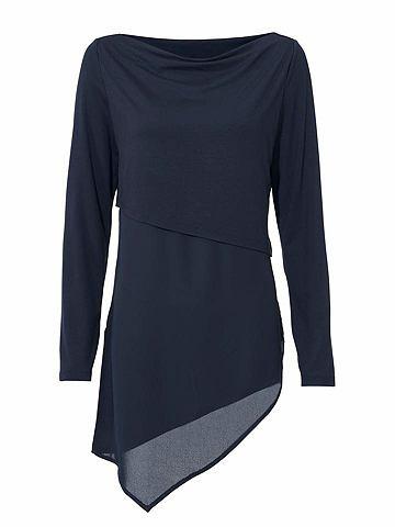 Блузка-рубашка с Seitenschlitze