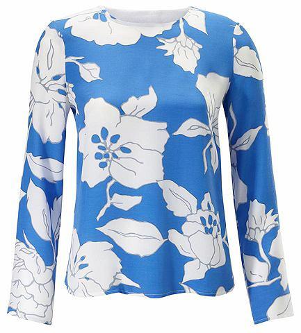 Блузка-рубашка с цветочный узор