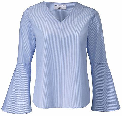 Блузка в полоску рукав с с воланами