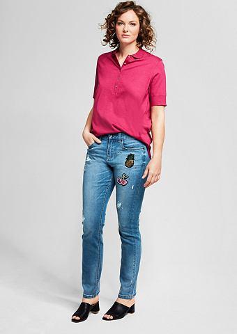 Curvy: джинсы потертые с пятна