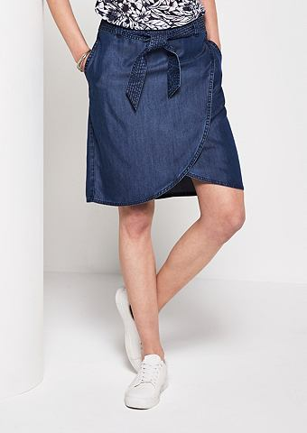 Kurzer юбка в имитация джинсa