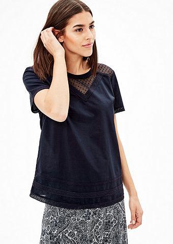 Блуза с Spitzen-Einsatz