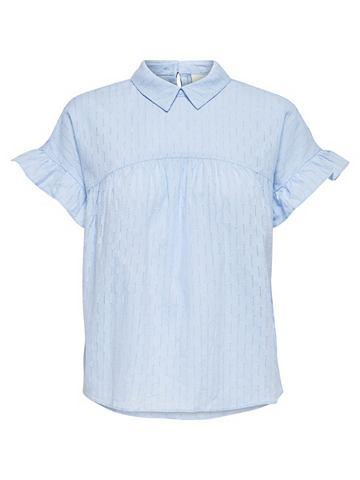 Lockeres рубашка с короткими рукавами
