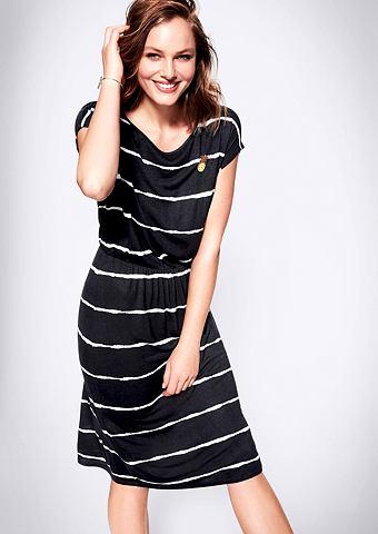 Платье из джерси с Batik-Streifen
