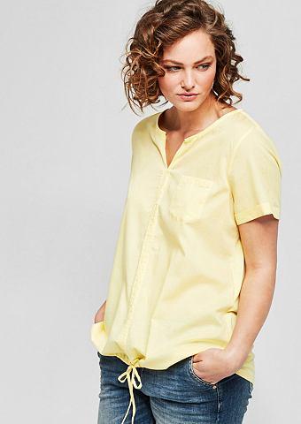 Блузка-рубашка с с кулиской
