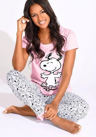 Пижама с Snoopy-Print в L-Grö&szl...