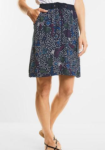 Мягкий Blütenprint юбка