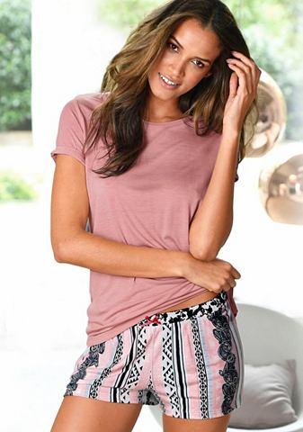 Пижама с kurzer брюки в пестрый