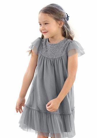KIDOKI Платье с воланами